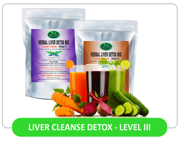 This Liver Flush cleanses and detoxifies the Liver with a two-part Herbal Combination